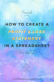 Free Download Spreadsheet How To Create A Basic Profit U0026 Loss Statement Free Download