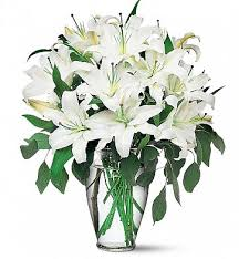 lilies flower magnificent white lilies flower bouquet
