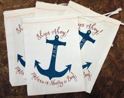 nautical gift bags nautical bag etsy