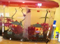Betta Fish Decorations Vintage Colorful Pagoda Aquarium Decoration Japan Aquarium