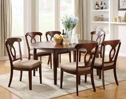 furniture modern oval dining table with wingback dining chair in