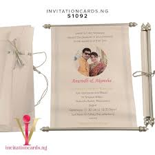 Scroll Invitation Royal Scroll Invitation S1092 Now Available At Invitationsng Com
