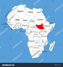 South Sudan Map Republic South Sudan Vector Map Silhouette Stock Vector 315916124