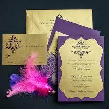 regency wedding invitations plum and gold wedding invitations chic shab design