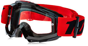 fox motocross goggles sale 100 100 accuri clear lens youth mx goggles inferno black red