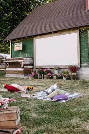 How To Make A Backyard Movie Theater How To Throw An Outdoor Movie Party Jenny Cookies