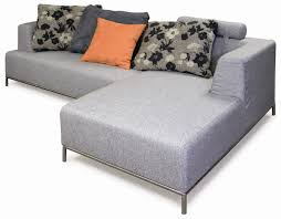 living room furniture l shaped light gray microfiber sofa with