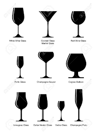 martini silhouette vector set of black silhouette glasses royalty free cliparts vectors