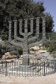 knesset menorah menorah and of david sculpture at the circle near the