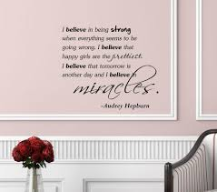believe home decor i believe said by audrey hepburn vinyl wall art inspirational