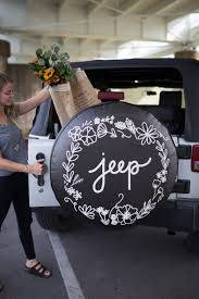 turquoise jeep accessories floral jeep tire cover floral design unique tire cover jeep