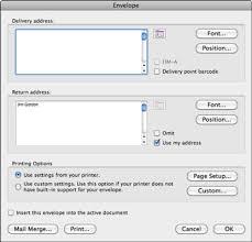 merging to envelopes in word in office 2011 for mac dummies