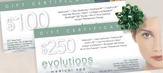 spa gift cards evolutions spa gift certificates available now