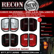 oem chevy cab lights silverado oled tail lights truck car parts 264297cl recon