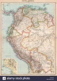 Colombia South America Map by South America Nw Venezuela Colombia Ecuador Peru Bolivia Inset