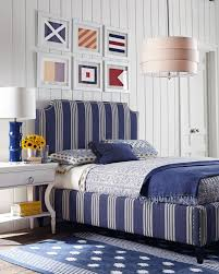 Nautical Interior Nautical Bedroom Blue And White Stripes Nautical Flags On White