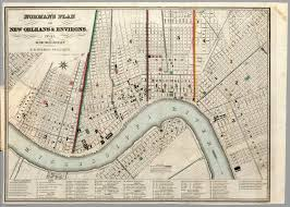 Map Of New Orleans by Norman U0027s Plan Of New Orleans U0026 Environs David Rumsey Historical