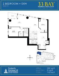 floor plans for 33 bay residences u2013 centre at 12 u0026 16