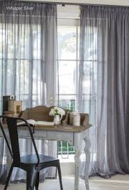 sheer linen curtains i would love something like this in my