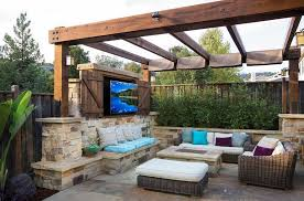 Build Outdoor Tv Cabinet How To Create An Entertaining Outdoor Movie Night