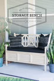 bench home decorators collection laughlin antique blue storage
