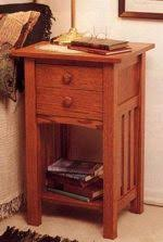 mission nightstand woodworking plans and information at
