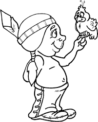 Indian Thanksgiving Adorable Thanksgiving Coloring Pages Of Indians Holidays