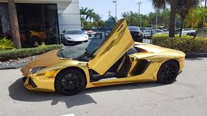 golden ferrari price gold lamborghini aventador roadster lp700 4 start up u0026 drive