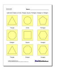Free Printable Shapes Worksheets Basic Geometry