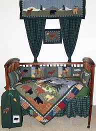 Northwoods Crib Bedding Northwoods Walk Crib Bedding Sets Cabin Place
