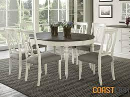 vegas 7 piece round oval extension dining set coastlink furniture