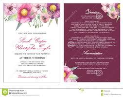 Invitation Card Border Wedding Invitation Card Invitation With Watercolor Flowers Stock