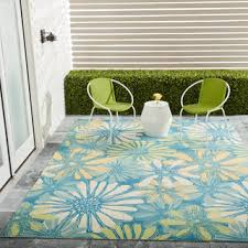 7 X 10 Outdoor Rug Nourison Home And Garden Blue Floral Indoor Outdoor Rug 7 9 X 10