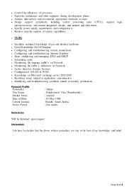 Desktop Support Technician Resume Example by Desktop Support Resume Rishil