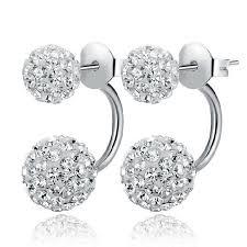 push back earrings 2016 silver push back earring jewelry