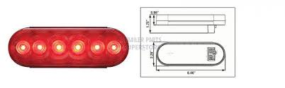 led tail lights for a trailer led 6 in oval red vehicle trailer tail light stl 12rb
