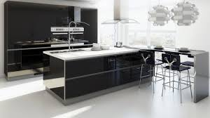 White Kitchen Cabinets With Black Island by Eat In Kitchen Island Black Marble Countertop Feats Glass Door