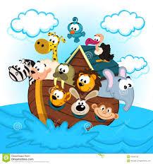 noah u0027s ark with animals stock vector image 40092789