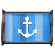 themed serving tray nautical theme serving trays food trays zazzle