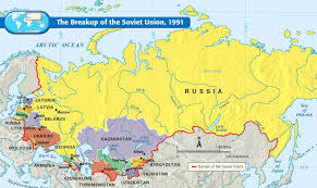 map of ussr the breakup of the soviet union map collection