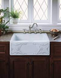 Kitchen Faucets For Farm Sinks Interior Design Exciting White Apron Sink With Graff Faucets And