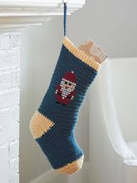 bernat cross stitch christmas stockings crochet pattern