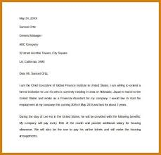 visa invitation letter elements of a good cover letter format