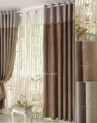 Blackout Curtains For Bedroom Coffee Color Chenille Fabric Blackout Curtain For Bedroom