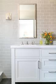Gray Subway Tile Bathroom by Bathroom Subway Tiles Design Ideas