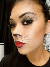 leopard cat makeup tutorial halloween makeup youtube