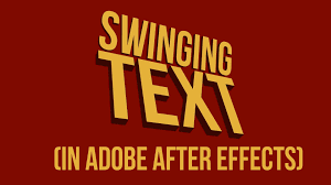 tutorial kinetic typography after effects swinging text motion typography technique tutorial youtube