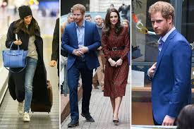 prince harry looks glum after dropping off beau meghan markle at