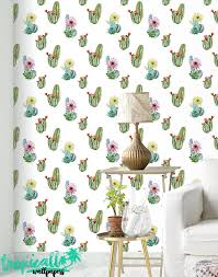 Watercolor Wallpaper For Walls by Watercolor Cactus Wallpaper Removable Wallpapers Floral