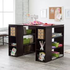 counter table with storage sullivan counter height craft table espresso sewing furniture at